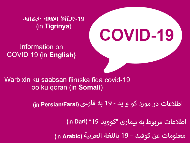 Covid-19 - information in different languages